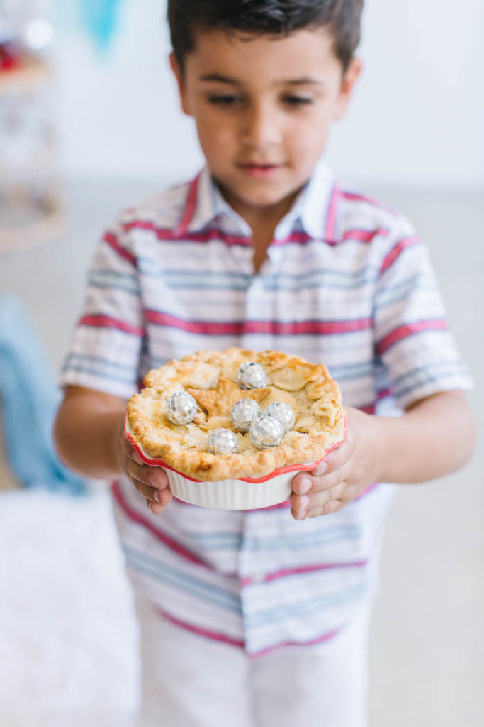 Disco Ball-covered Patriotic Pie from a Modern Classic July 4th Party on Kara's Party Ideas | KarasPartyIdeas.com (19)