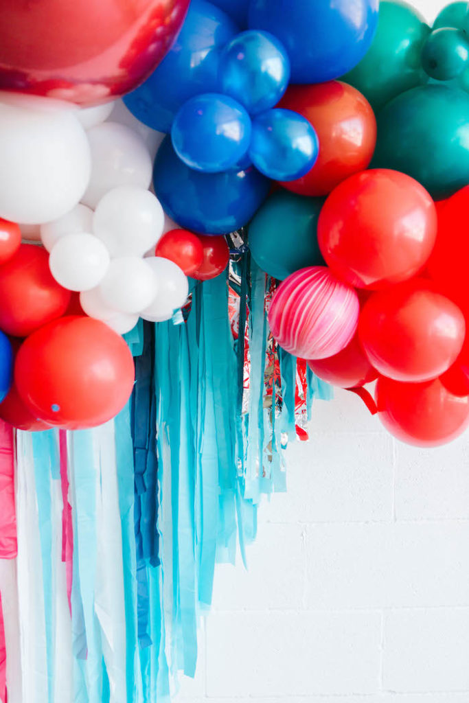 4th of July Balloon & Tassel Fringe Backdrop from a Modern Classic July 4th Party on Kara's Party Ideas | KarasPartyIdeas.com (17)