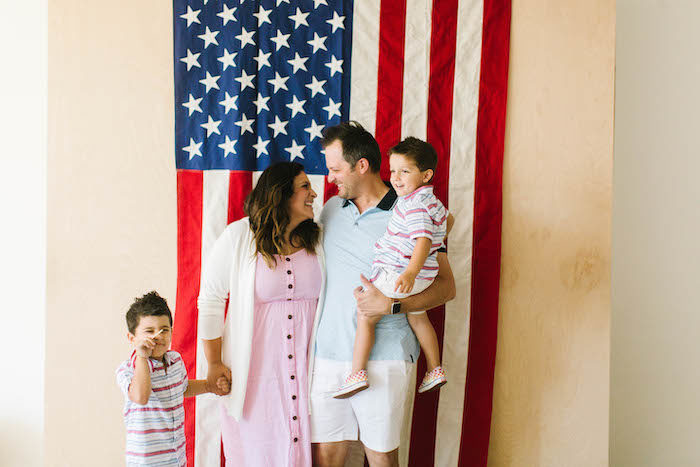 American Flag Photo Op from a Modern Classic July 4th Party on Kara's Party Ideas | KarasPartyIdeas.com (34)