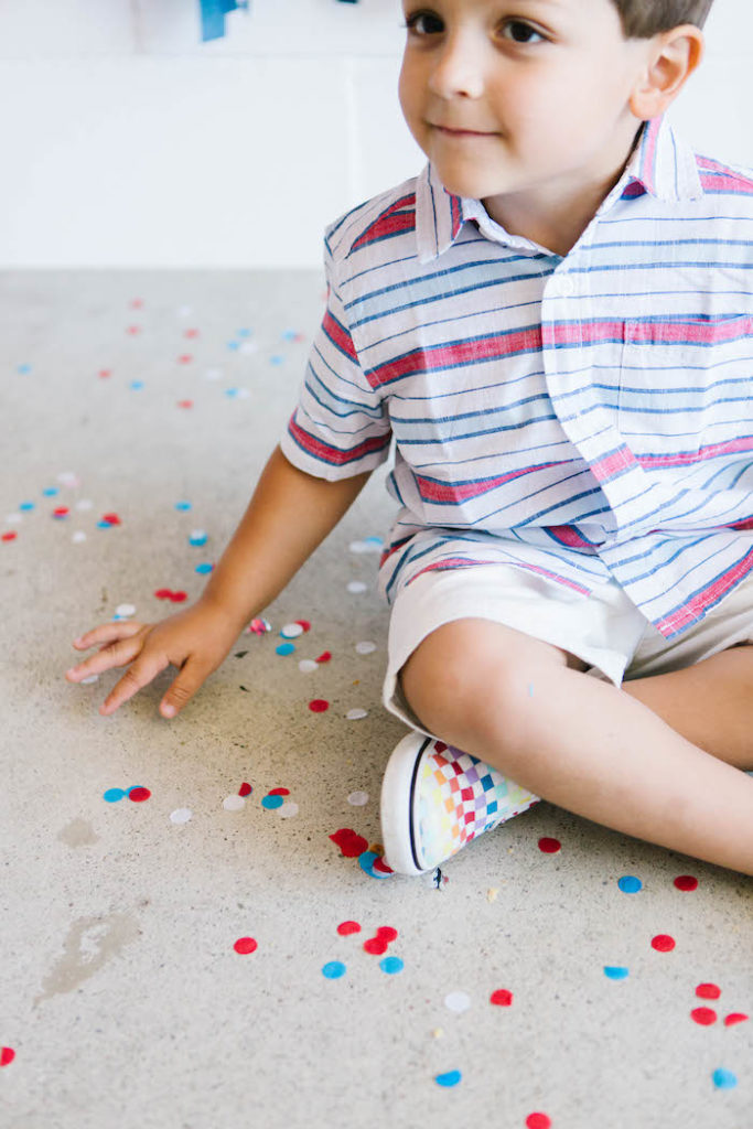 Independence Day Confetti from a Modern Classic July 4th Party on Kara's Party Ideas | KarasPartyIdeas.com (15)