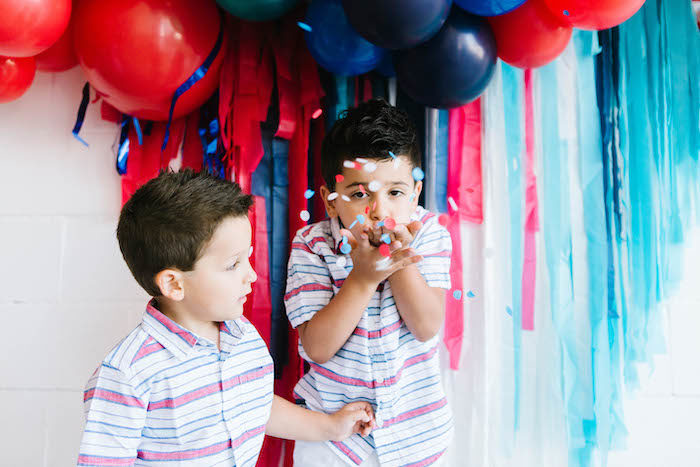 Confetti from a Modern Classic July 4th Party on Kara's Party Ideas | KarasPartyIdeas.com (12)