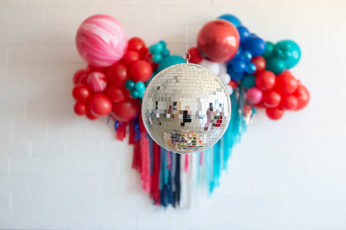 4th of July Disco Ball from a Modern Classic July 4th Party on Kara's Party Ideas | KarasPartyIdeas.com (11)