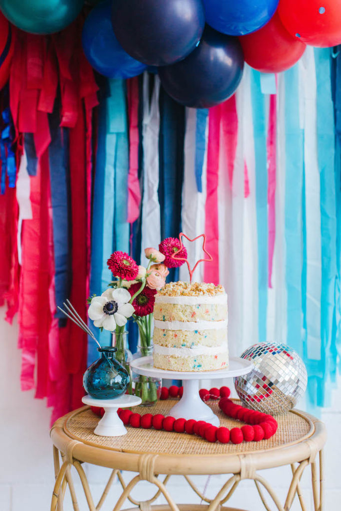 4th of July Cake Table from a Modern Classic July 4th Party on Kara's Party Ideas | KarasPartyIdeas.com (8)