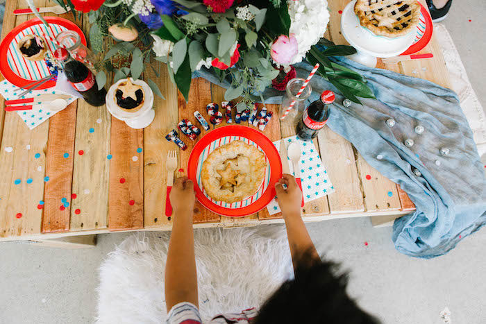 4th of July Kid Table Setting from a Modern Classic July 4th Party on Kara's Party Ideas | KarasPartyIdeas.com (5)