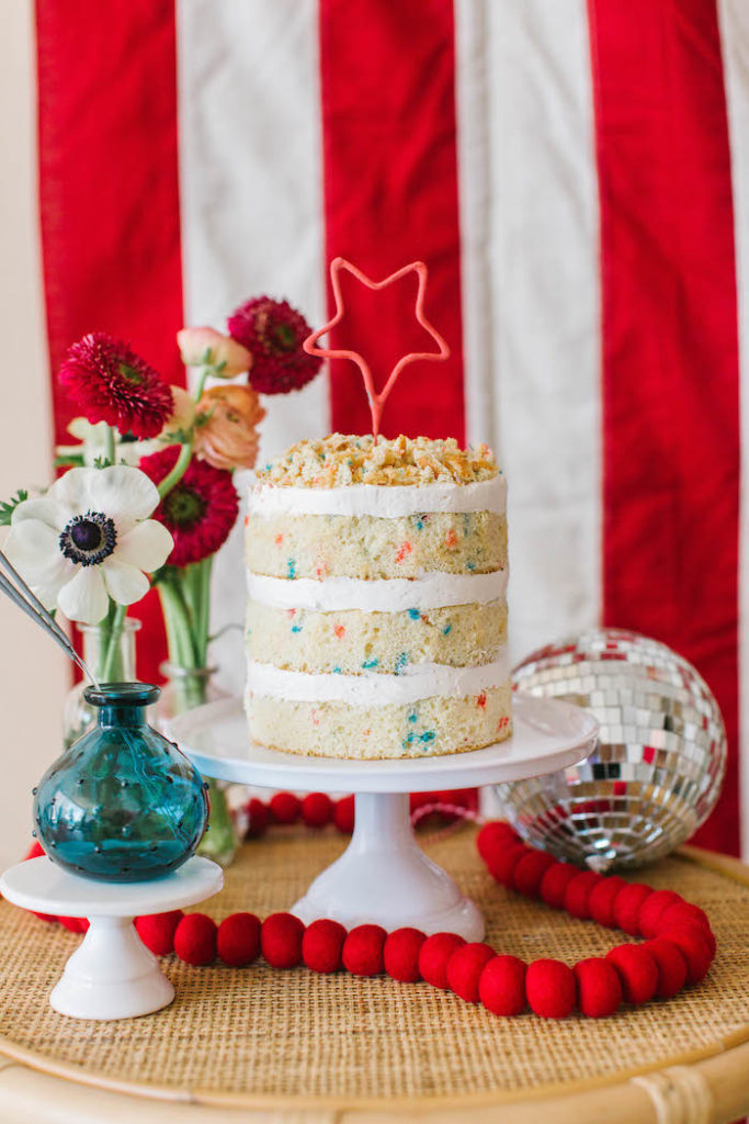 4th of July Naked Cake from a Modern Classic July 4th Party on Kara's Party Ideas | KarasPartyIdeas.com (3)