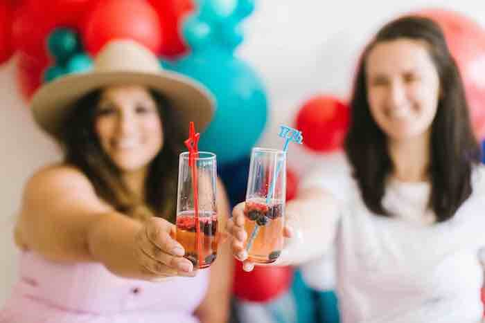 """4th of July """"Cheers"""" from a Modern Classic July 4th Party on Kara's Party Ideas 