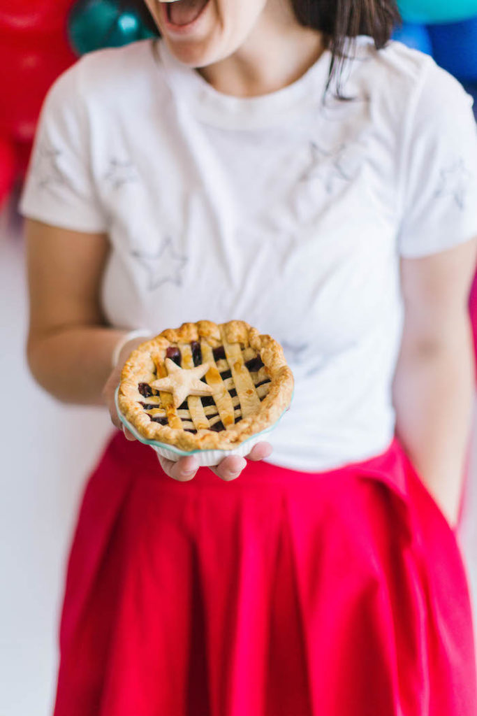 Mini Patriotic Pie from a Modern Classic July 4th Party on Kara's Party Ideas | KarasPartyIdeas.com (29)