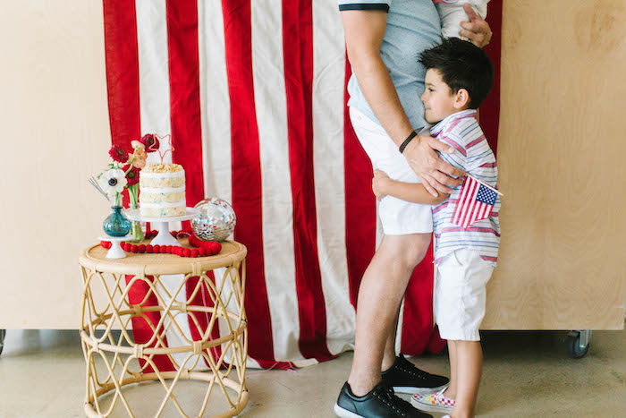 Classic 4th of July Cake Table from a Modern Classic July 4th Party on Kara's Party Ideas | KarasPartyIdeas.com (28)