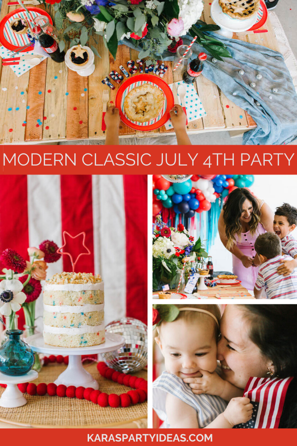 Modern Classic July 4th Partyvia Kara's Party Ideas - KarasPartyIdeas.com