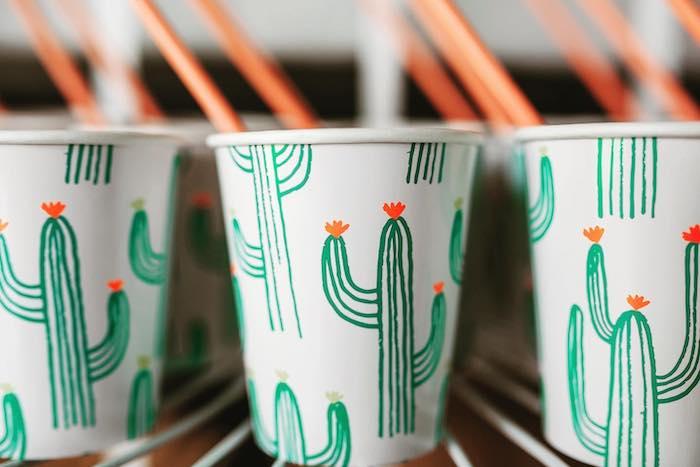 Cactus Cups from a No Llama Drama Birthday Party on Kara's Party Ideas | KarasPartyIdeas.com (13)