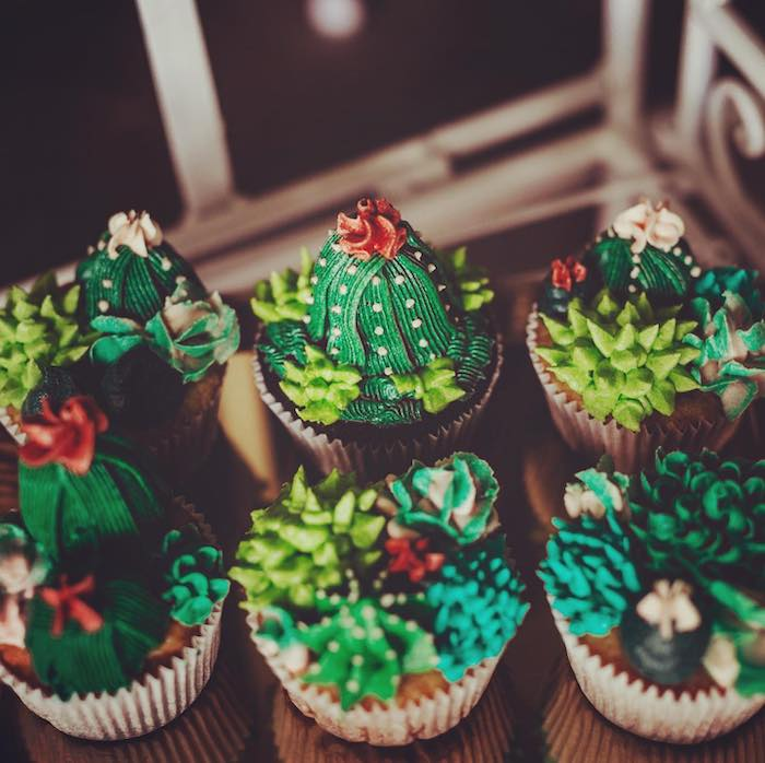 Cactus Cupcakes from a No Llama Drama Birthday Party on Kara's Party Ideas | KarasPartyIdeas.com (11)