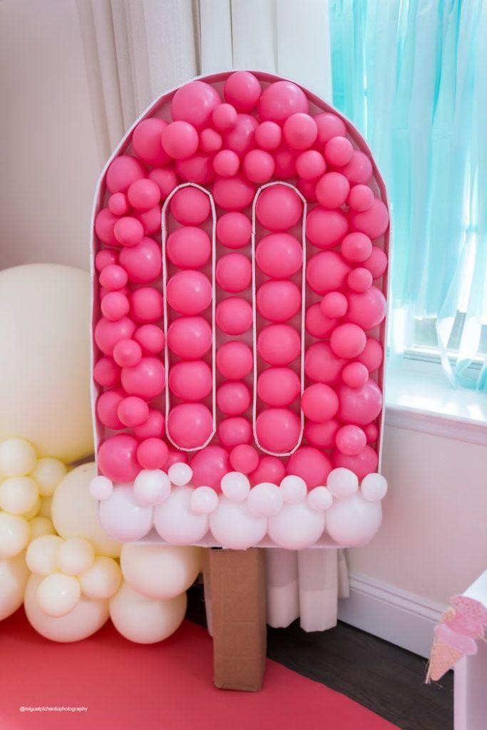 Ice Cream Balloon Install from a Pastel Ice Cream Soiree on Kara's Party Ideas   KarasPartyIdeas.com (18)
