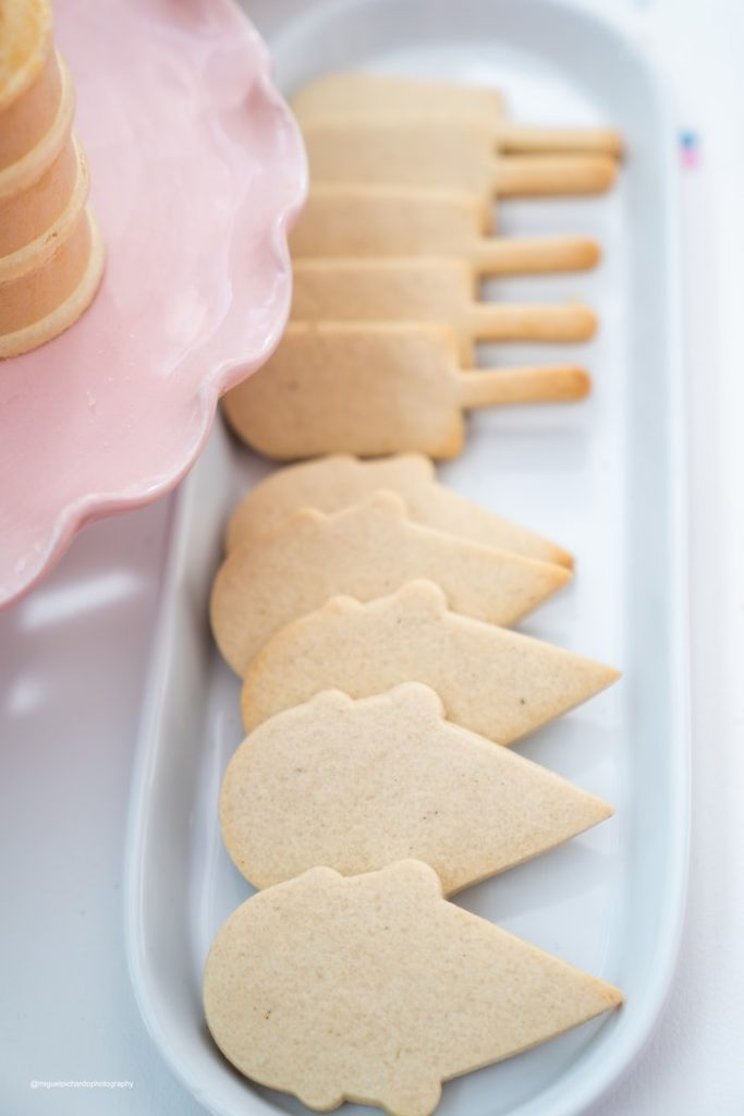 Ice Cream Shaped Sugar Cookies to Ice from a Pastel Ice Cream Soiree on Kara's Party Ideas   KarasPartyIdeas.com (17)