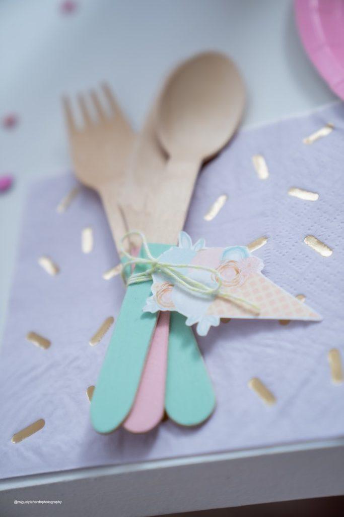 Wooden Utensils from a Pastel Ice Cream Soiree on Kara's Party Ideas   KarasPartyIdeas.com (10)