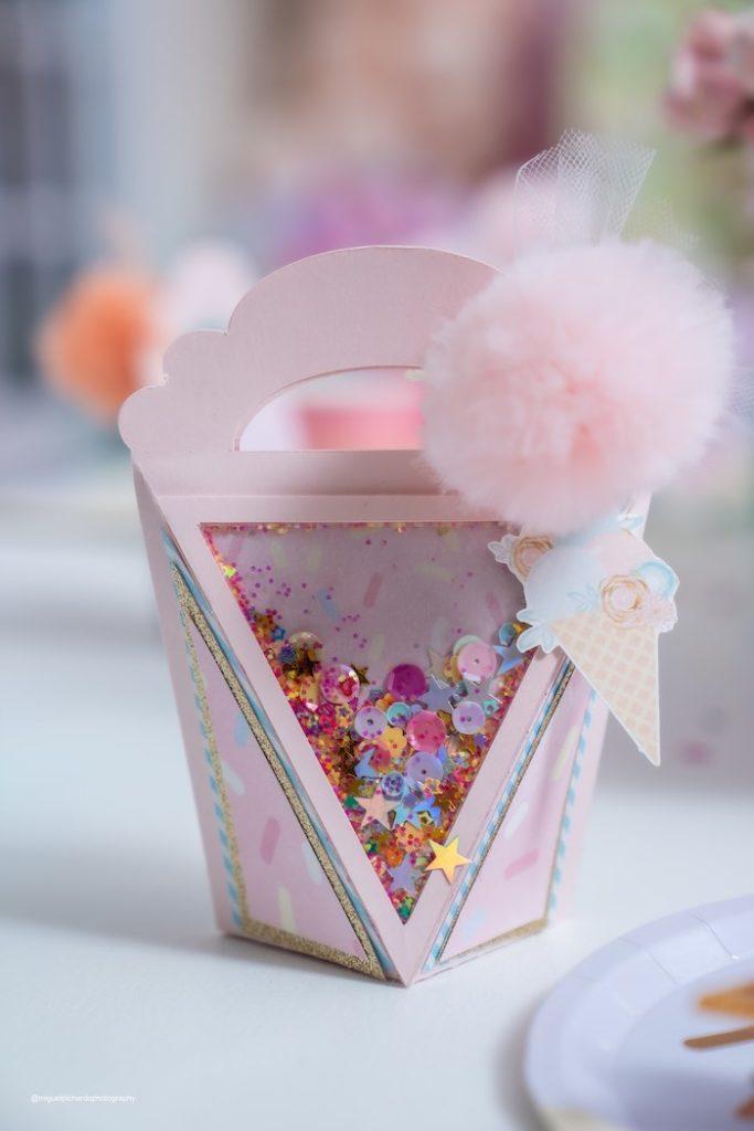 Ice Cream Cone Gift Box from a Pastel Ice Cream Soiree on Kara's Party Ideas   KarasPartyIdeas.com (8)
