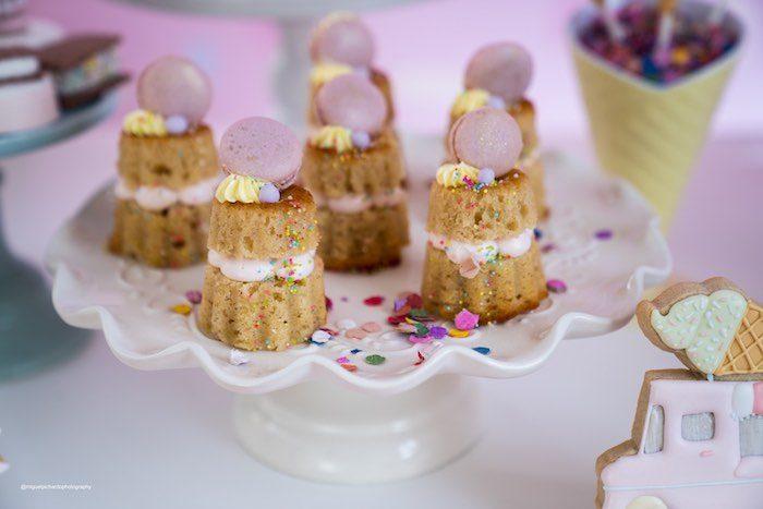 Stacked Mini Bundt Cakes from a Pastel Ice Cream Soiree on Kara's Party Ideas   KarasPartyIdeas.com (28)