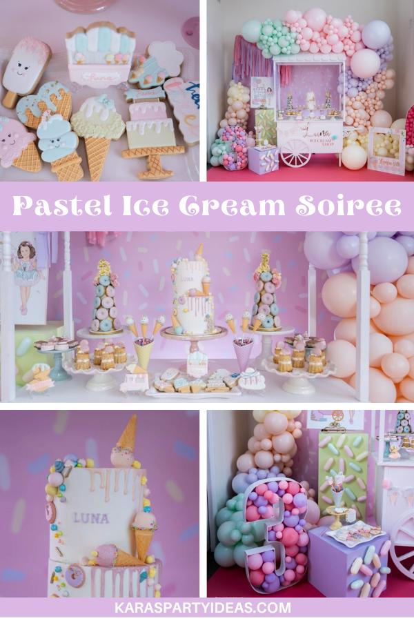 Pastel Ice Cream Soiree via Kara's Party Ideas - KarasPartyIdeas.com