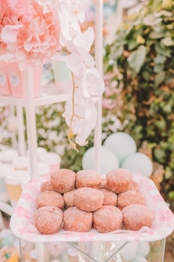 "Sugar Donuts from a Pastel Rainbow ""Threenage Dream"" 3rd Birthday Party on Kara's Party Ideas 