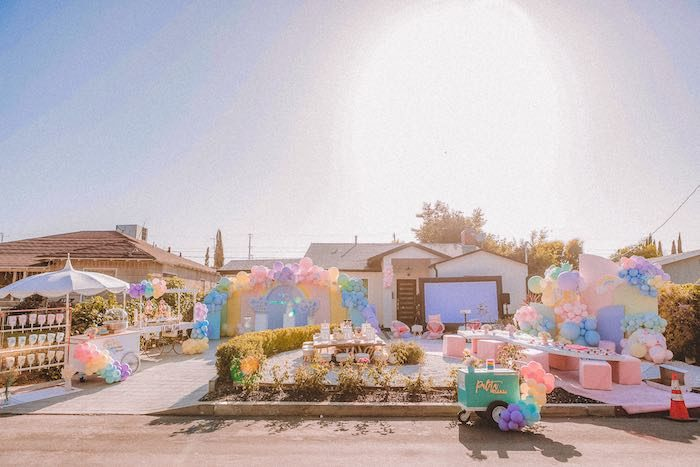 "Pastel Rainbow ""Threenage Dream"" 3rd Birthday Party on Kara's Party Ideas 