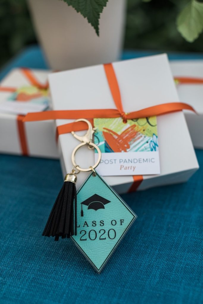 2020 Graduation Key Chain Favor from a Post-Pandemic Holiday Round-Up Backyard BBQ on Kara's Party Ideas | KarasPartyIdeas.com (35)