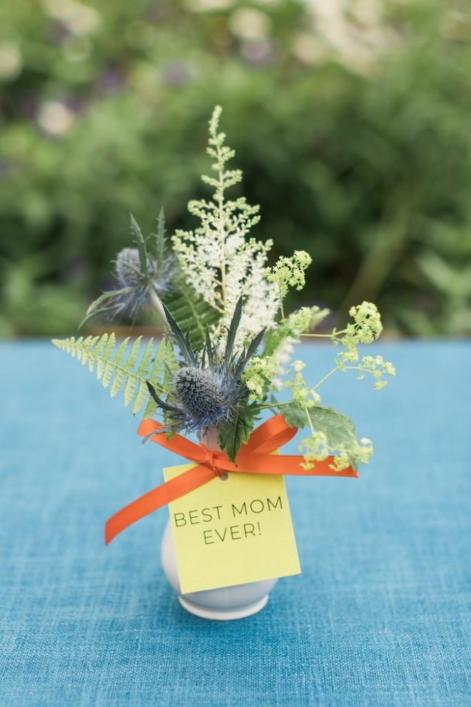 Best Mom Ever-labeled Wildflower Floral Arrangement from a Post-Pandemic Holiday Round-Up Backyard BBQ on Kara's Party Ideas | KarasPartyIdeas.com (28)