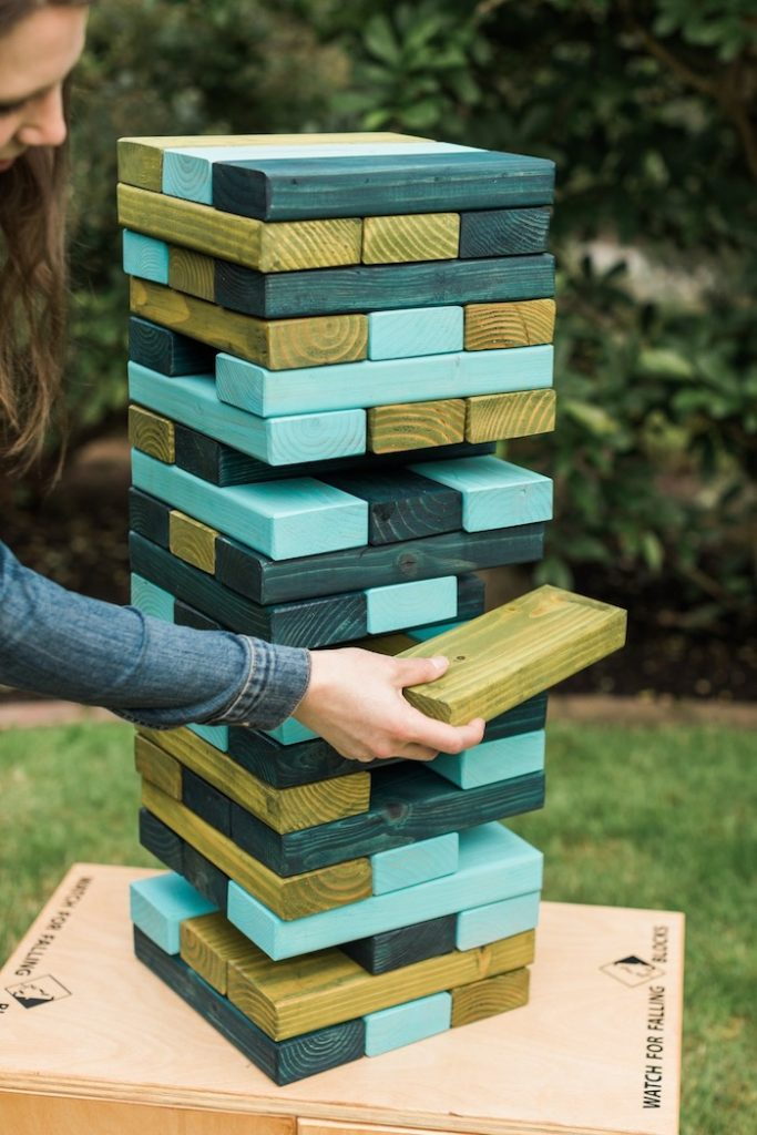 Giant Jenga from a Post-Pandemic Holiday Round-Up Backyard BBQ on Kara's Party Ideas | KarasPartyIdeas.com (23)