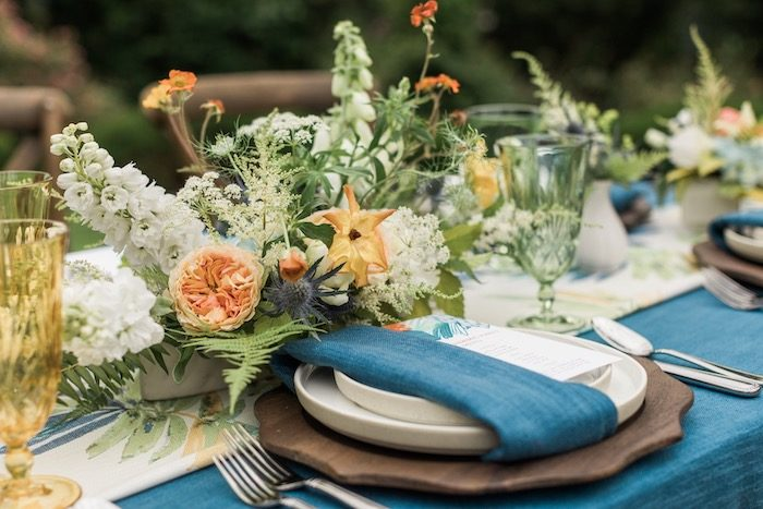 Rustic Garden Party Table Setting from a Post-Pandemic Holiday Round-Up Backyard BBQ on Kara's Party Ideas | KarasPartyIdeas.com (16)