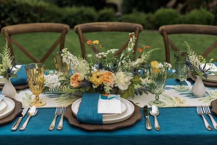 Rustic Garden Party Table Setting from a Post-Pandemic Holiday Round-Up Backyard BBQ on Kara's Party Ideas | KarasPartyIdeas.com (15)