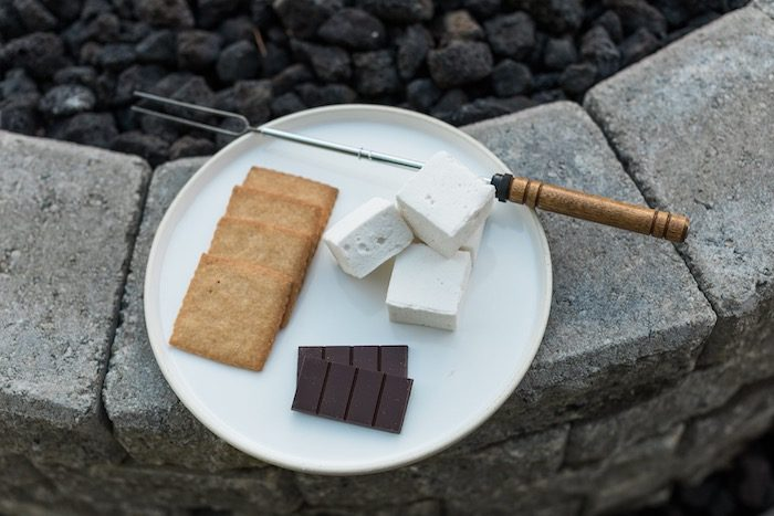 S'more Plate from a Post-Pandemic Holiday Round-Up Backyard BBQ on Kara's Party Ideas | KarasPartyIdeas.com (42)