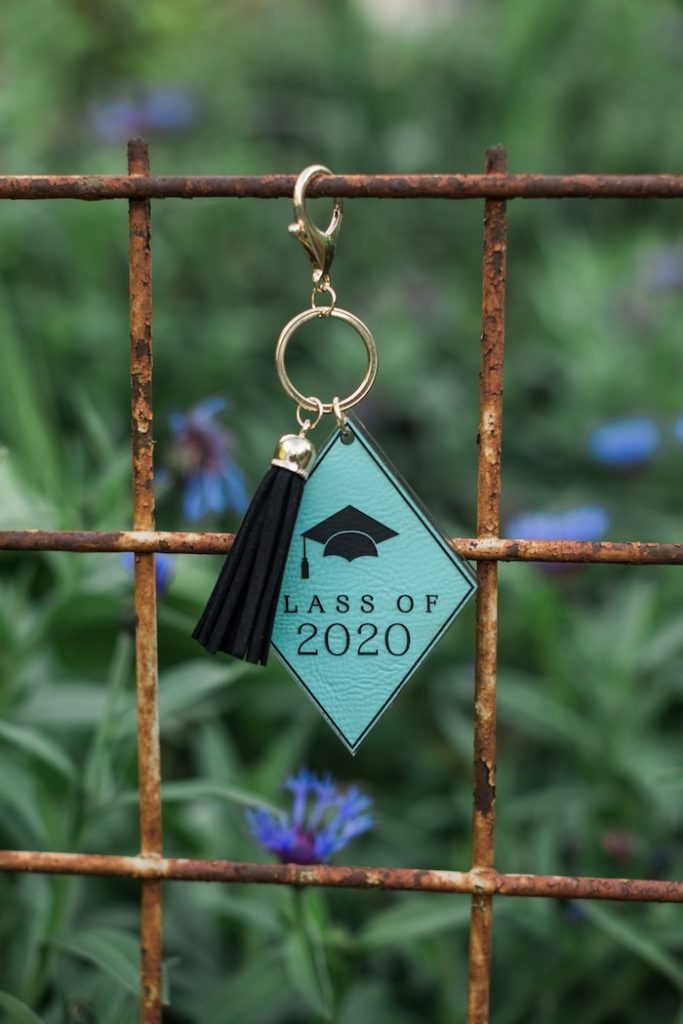 2020 Graduation Key Chain Favor from a Post-Pandemic Holiday Round-Up Backyard BBQ on Kara's Party Ideas | KarasPartyIdeas.com (36)