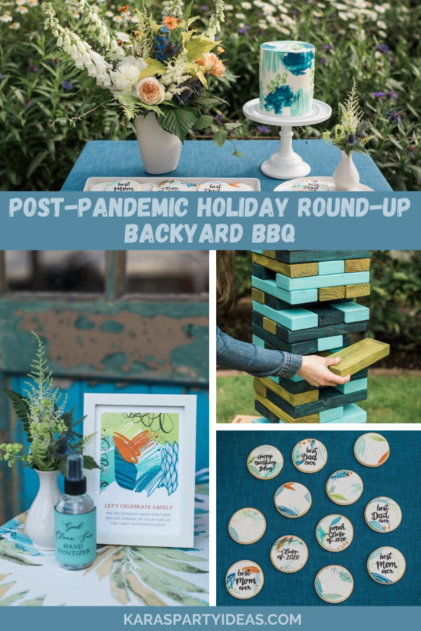 Post-Pandemic Holiday Round-Up Backyard BBQ via Kara's Party Ideas - KarasPartyIdeas.com