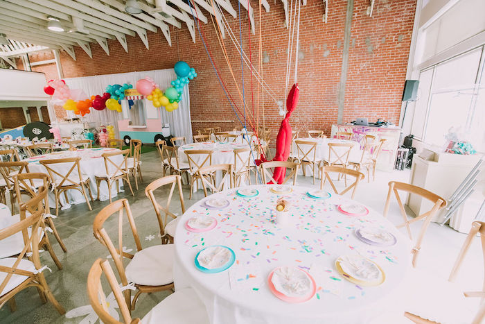 Ice Cream-inspired Guest Tables from a Rainbow Ice Cream Party on Kara's Party Ideas | KarasPartyIdeas.com (26)