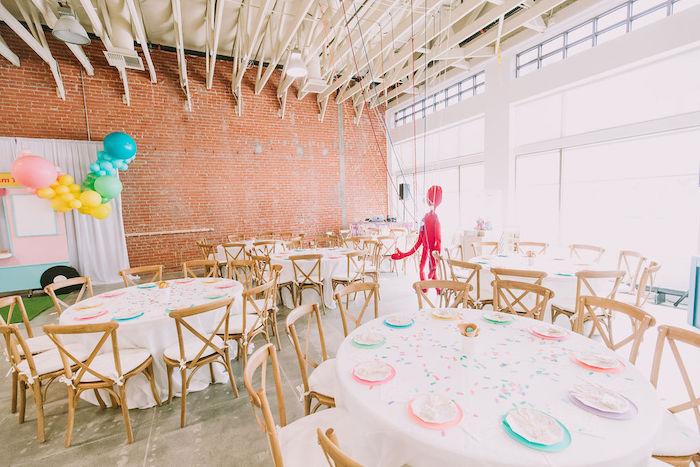 Ice Cream-inspired Guest Tables from a Rainbow Ice Cream Party on Kara's Party Ideas | KarasPartyIdeas.com (25)