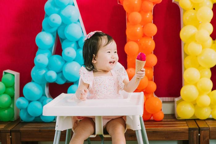 Rainbow Ice Cream Party on Kara's Party Ideas | KarasPartyIdeas.com (42)