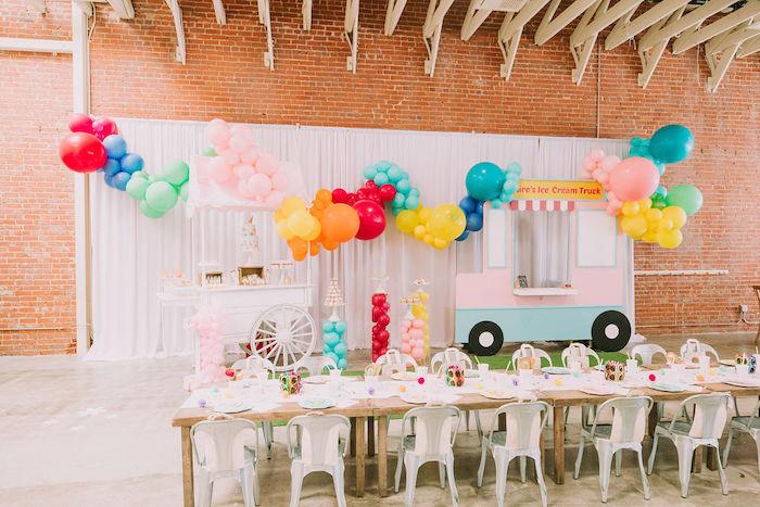 Rainbow Ice Cream Party on Kara's Party Ideas | KarasPartyIdeas.com (21)