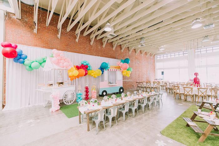 Rainbow Ice Cream Party on Kara's Party Ideas | KarasPartyIdeas.com (20)