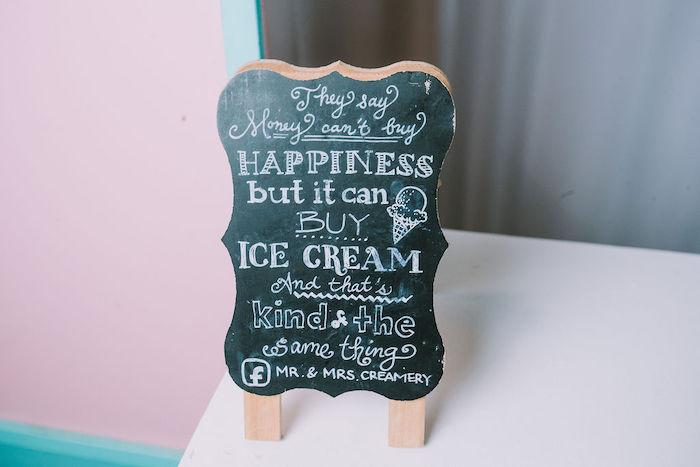 Chalkboard Ice Cream Sign from a Rainbow Ice Cream Party on Kara's Party Ideas | KarasPartyIdeas.com (17)