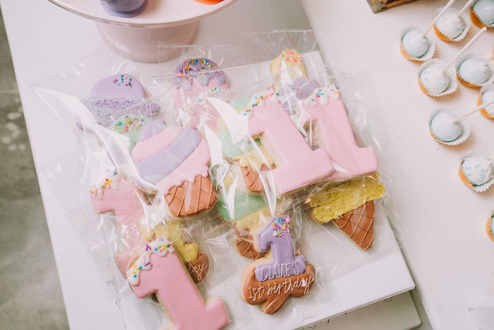 Ice Cream Themed Cookies from a Rainbow Ice Cream Party on Kara's Party Ideas | KarasPartyIdeas.com (12)