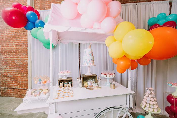 Ice Cream Themed Dessert Cart from a Rainbow Ice Cream Party on Kara's Party Ideas | KarasPartyIdeas.com (5)