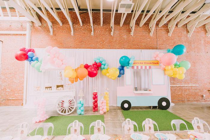 Rainbow Ice Cream Party on Kara's Party Ideas | KarasPartyIdeas.com (4)