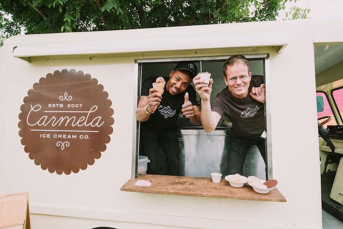 Ice Cream Truck from a Rainbow Ice Cream Party on Kara's Party Ideas | KarasPartyIdeas.com (39)