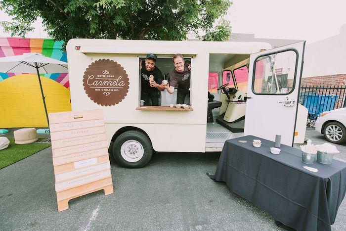 Ice Cream Truck from a Rainbow Ice Cream Party on Kara's Party Ideas | KarasPartyIdeas.com (37)