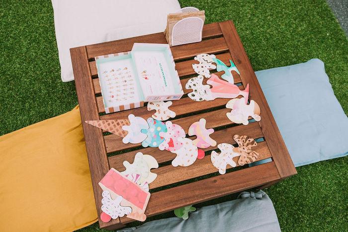 Create Your Own Ice Cream Activity from a Rainbow Ice Cream Party on Kara's Party Ideas | KarasPartyIdeas.com (36)