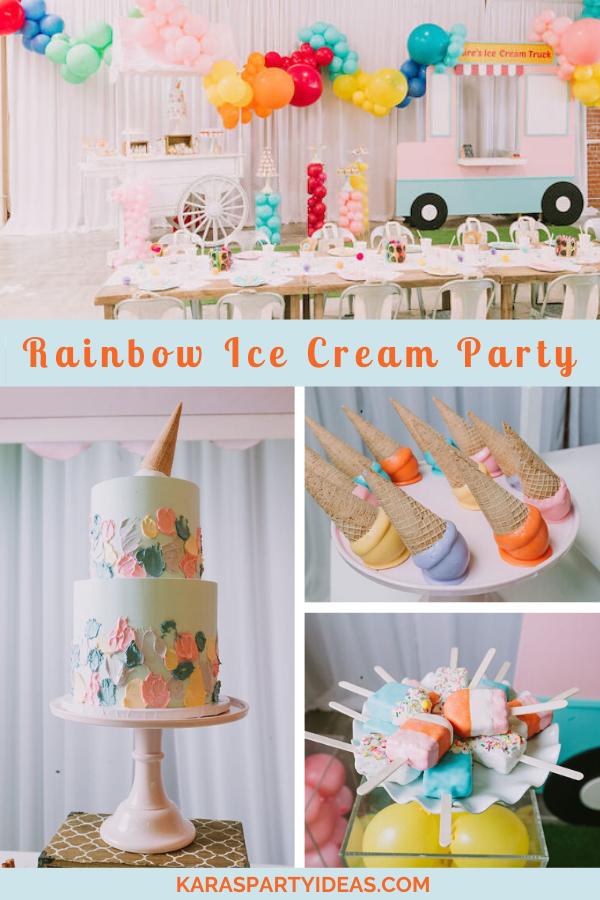 Rainbow Ice Cream Party via Kara's Party Ideas - KarasPartyIdeas.com