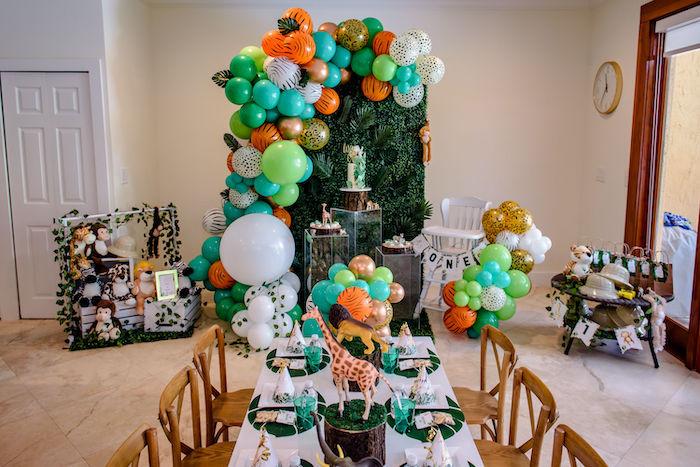 Wild One Safari Birthday Party on Kara's Party Ideas | KarasPartyIdeas.com (20)