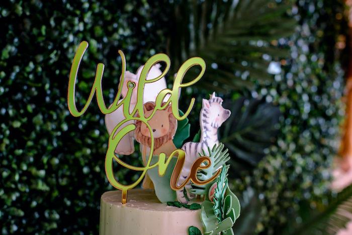Wild One Cake Topper from a Wild One Safari Birthday Party on Kara's Party Ideas | KarasPartyIdeas.com (19)