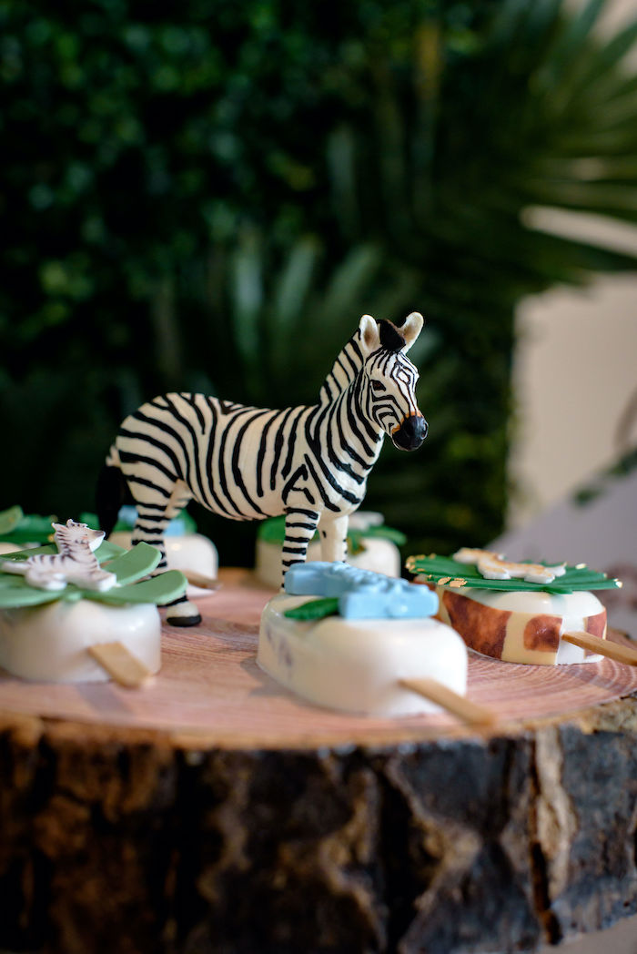 Plastic Zebra Prop from a Wild One Safari Birthday Party on Kara's Party Ideas | KarasPartyIdeas.com (14)