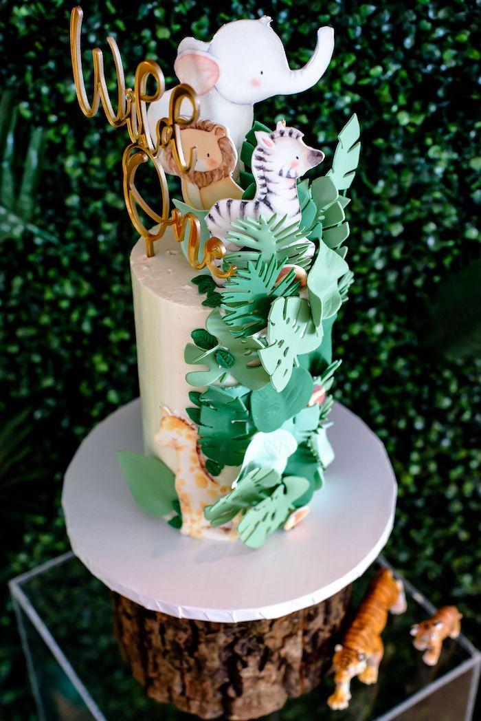 Safari Animal Cake from a Wild One Safari Birthday Party on Kara's Party Ideas | KarasPartyIdeas.com (11)