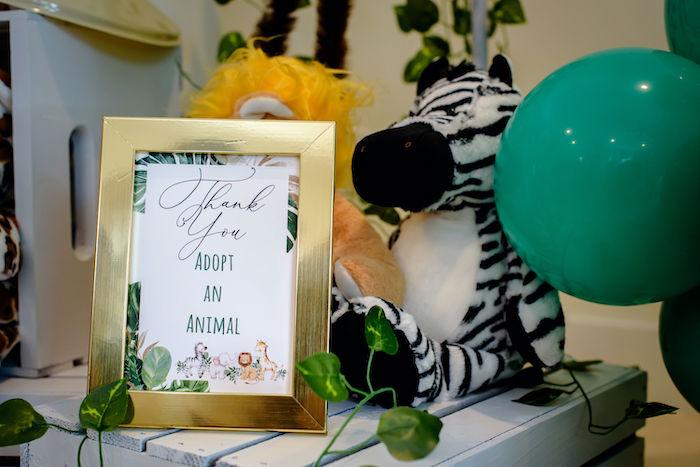 Safari Animal Adoption from a Wild One Safari Birthday Party on Kara's Party Ideas | KarasPartyIdeas.com (32)