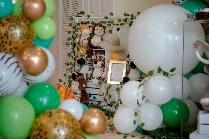 Safari Animal Adoption from a Wild One Safari Birthday Party on Kara's Party Ideas | KarasPartyIdeas.com (31)